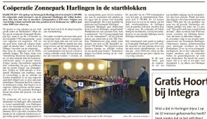 Artikel Krant over Informatieavond